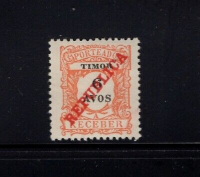 Timor 1911 6a Postage Due MH Sc J14