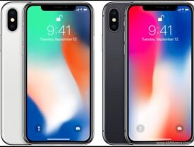 Unlocked iphone x 64gb and 256gb in silver and space grey