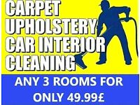Carpet cleaning (3 rooms for 49.99£ ) / upholstery / mattress cleaning service