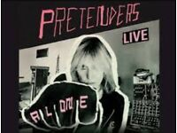 2 x tickets to see Pretenders 8 Oct Hammersmith Eventim Apollo