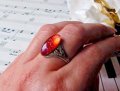 Dragon's Breath Pendeloque Ring Antiqued SS finish SALE Free Shipping Fall gifts