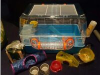 Large Hamster/Gerbil/Mouse Cage + Lots of Accessories