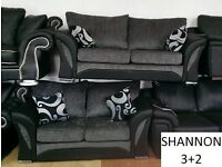 suite 3+2 / corner shannon black/grey sofa / sofas delivery thursday call us now