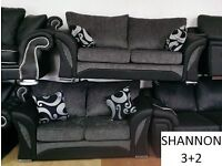 3+2 / corner shannon black/grey sofa / sofas delivery thursday call us now