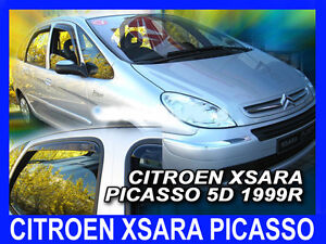 CITROEN XSARA PICASSO 1999-2008 wind deflectors 4pc set + FREE P&P