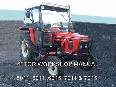 ZETOR Workshop Manual 5011, 6011, 6045, 7011, 7045 on CD, używany na sprzedaż  Wysyłka do Poland