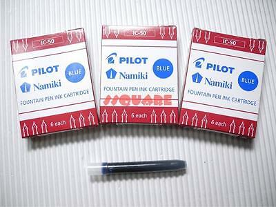 72 X Pilot Ic-50 Namiki Fountain Pen Ink Cartridges 78g Prera Blue 12 Boxes