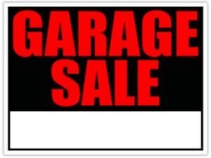 Garage Sale (rain or shine)