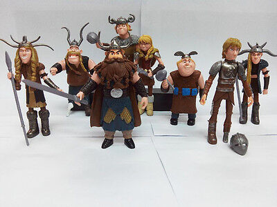 How To Train Your Dragon 8X Figures Characters Set  Hiccup Astrid Stoick Ruffnut