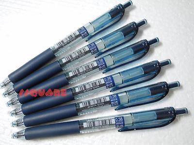 6 X Uni-ball Signo Umn-138 0.38mm Retractable Roller Ball Pen Blueblack