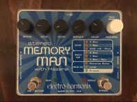 ELECTRO-HARMONIX MEMORY MAN WITH HAZARAI - STEREO GUITAR EFFECTS PEDAL