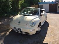 vw beetle convertible 1.4 with fsh