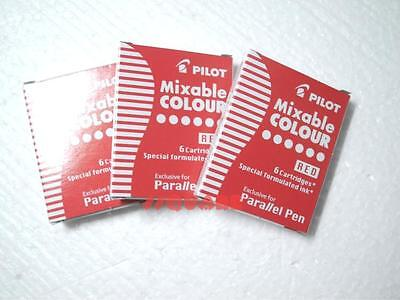 3 Boxes X Pilot Special Formulated Ink For Parallel Pen 78g Fountain Pen Red