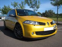 VERY DESIRABLE (57) RENAULT MEGANE R-SPORT 230 F1 R26 LUX PACK LIQUID YELLOW ONLY 55K MILES 8 STAMPS