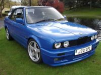 1992 BMW E30 325i Sports Convertible RS4 BLUE