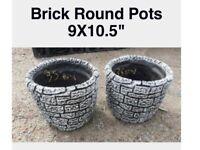 Stone plant pot