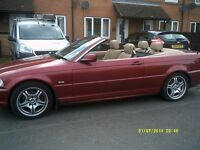 52 plate BMW 320CI convertible auto with hard top 114k fsh may swap part x look look look