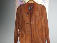 brand new leather jacket/coat