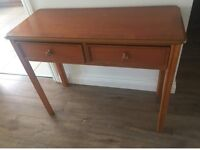 Solid wood hallway console table