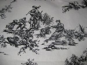 5 curtain Panels, Jamestown Colonial Black Toile
