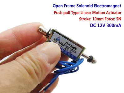 DC 12V Mini Solenoid Value Electromagnet Micro Spring Push Pull type Magnet 10mm