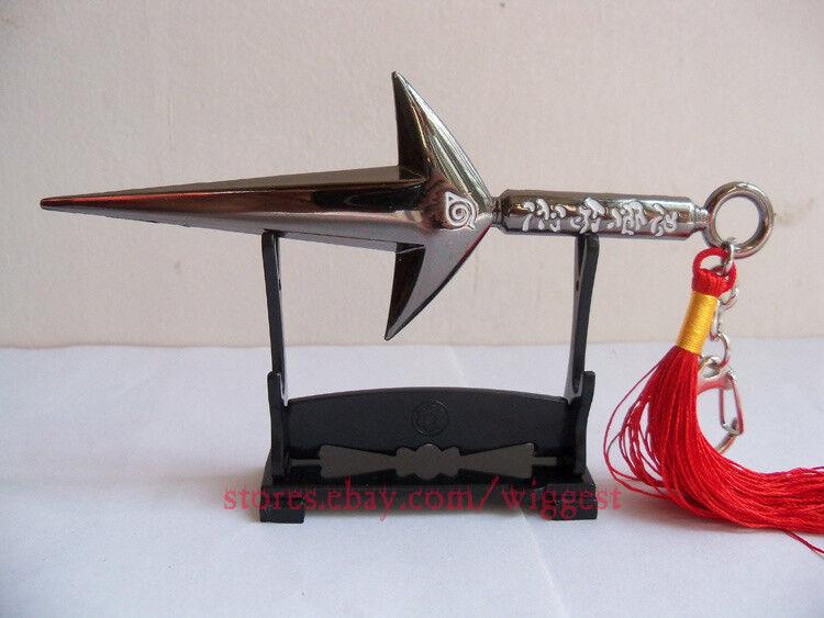 Naruto Shippuuden Minato Namikaze Black Kunai 4th Hokage Yondaime Cosplay Knife