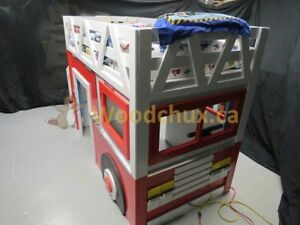 Extreme Machine Fire Engine Loft Bed & Play House .,. ♥‿♥