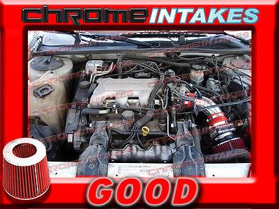 RED NEW 96  1996 PONTIAC GRAND PRIX ALL MODELS 31 31L V6 AIR INTAKE KIT TB