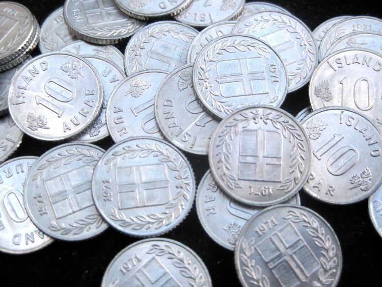 Iceland 10 Aurar 1971 BU  KM10a lot of 25  BU coins #59