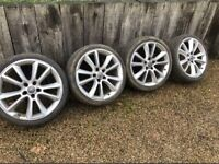 "19"" 5x110 Vauxhall Astra Vxr Corsa Vectra Van Alloy Wheels Saab With Tyres"