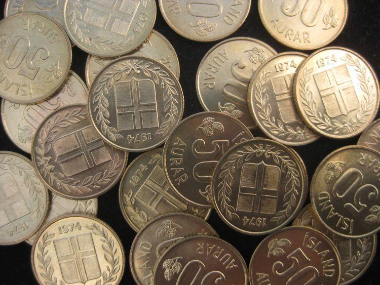 Iceland 50 Aurar  1974 BU  KM17 lot of 25  BU coins #63