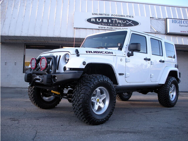wicked in white another rubitrux conversion new jeep wrangler for sale in boone north. Black Bedroom Furniture Sets. Home Design Ideas