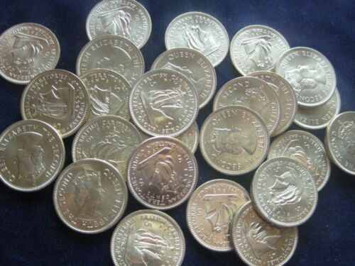 British Caribbean Territory 5 Cents 1965 LOT OF 25 BU coins #442