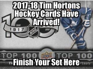 TIM HORTONS 2017-18 UPPER DECK HOCKEY CARDS