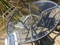 LARGE GARDEN TABLE & CHAIRS