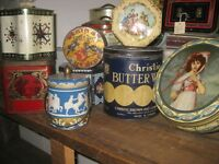 A Large Lot of Vintage and Antique Tins