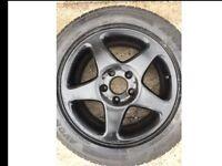 "Black Alloy Wheels 16"" 205/55/R16"