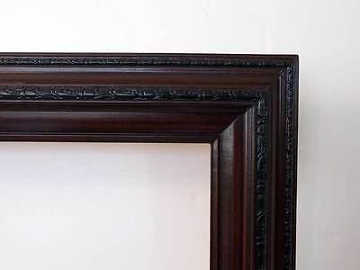 Picture Frame Oil Painting Dark Cherry Wood 24 X 36