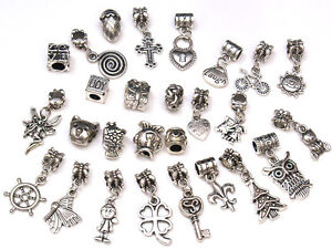 BULK/WHOLESALE Tibetan Silver Mixed Charm Beads Jewellery Making And Crafts