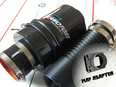 Bmw 325i Cold Air Intake (Kamotors BMW CF Cold Air Intake W/ MAF adapter for M20 M42 E30 325i)