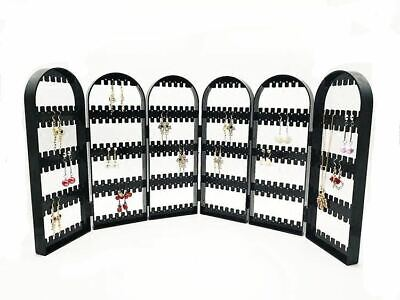 Foldable Earrings Display Stand 6-Panel Jewelry Organizer Holder