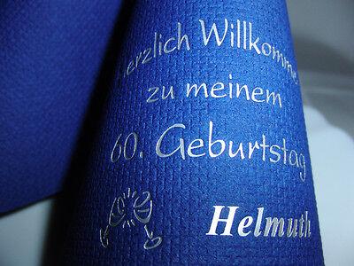 ♥ 50 edel mit IHREM Namen bedruckte Eleg.-Kaffee-Servietten zum GEBURTSTAG/PARTY