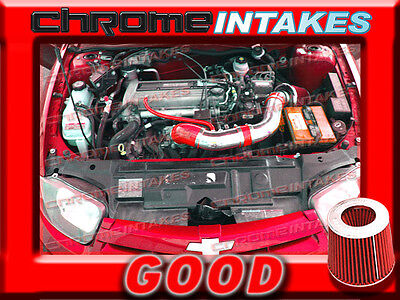 RED 02 03 04 05 CHEVY CAVALIER/PONTIAC SUNFIRE 2.2L ECOTEC AIR INTAKE KIT TB