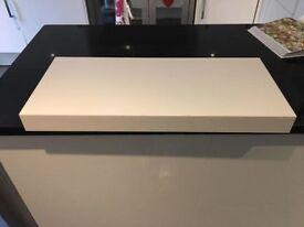 IKEA white floating shelf