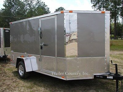 New 2021 6x12 6 X 12 V-nosed Motorcycle Enclosed Cargo Trailer
