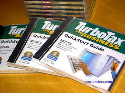 1996 Turbotax  Business Factory New Sealed Cd Very Rare  Free S H