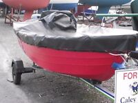 Pioner 13- RED with a 8HP Outboard Engine and Trailer