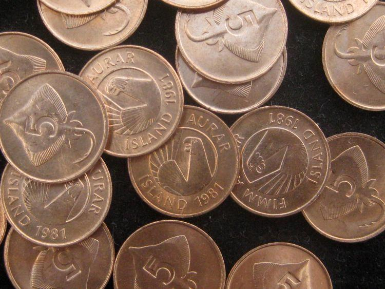Iceland 5 Aurar 1981 BU skate eagle  head KM24 lot of 25 red BU coins #57