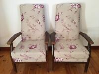 Stunning Parker Knoll High Back Chairs