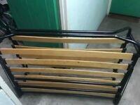 2 Jaybe folding single beds with lycksele murbo mattress 188 x 80cm